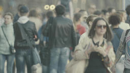 Crowd. 4K. Crowded street. People in the crowd Stock Video Footage