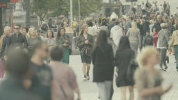 People on a crowded street. Crowd Footage