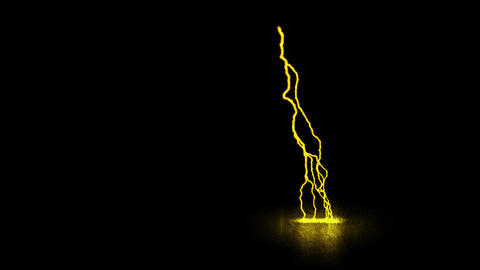 Gold Traveling Lightning Animation Motion Graphic Element Animation