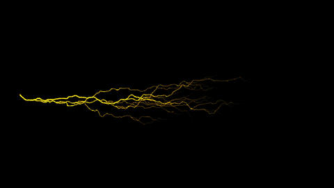 Gold Horizontal Lightning Animation Motion Graphic Element Animation