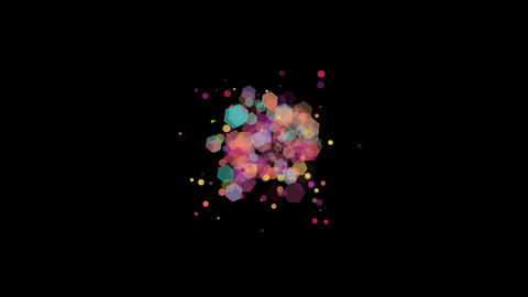 Pastel Hexagons and Particles Bokeh Animation