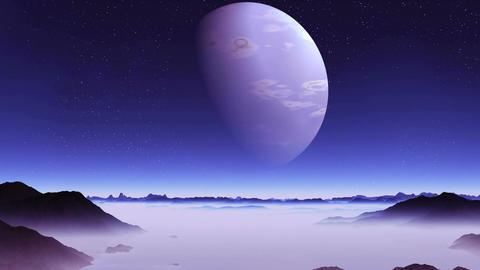 Blue Alien Planet Animation