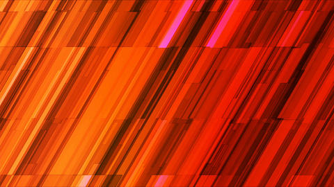Broadcast Twinkling Slant Hi-Tech Bars, Orange, Abstract, Loopable, 4K Animation