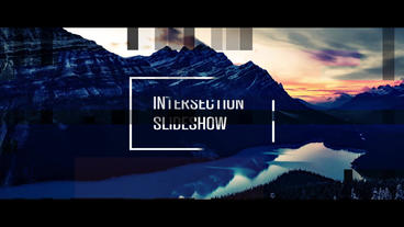 Intersection Slideshow After Effects Templates