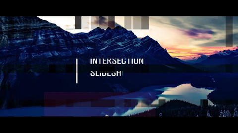 Intersection Slideshow After Effects Template