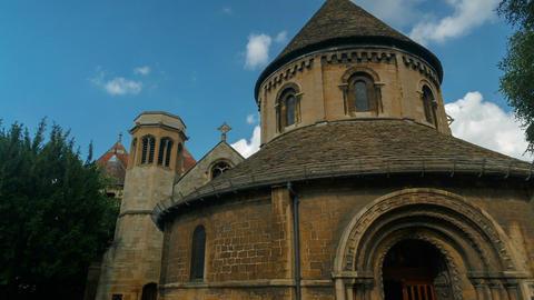 Round Church, Cambridge, England, UK Footage