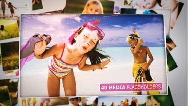 Upbeat Slideshow (3D Photos) After Effects Template