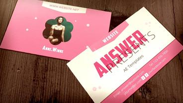 Business Card Show Plantilla de After Effects