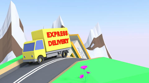 Delivery Animation CG動画素材