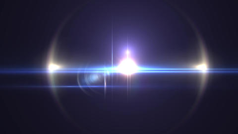 Flares-blue02-center CG動画