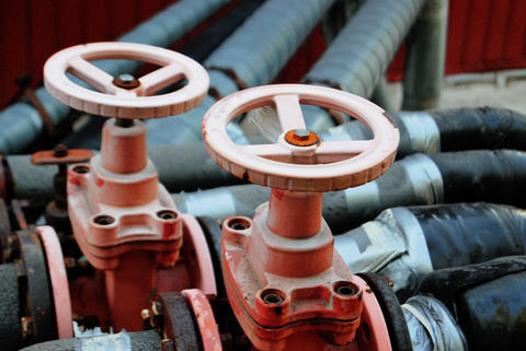 Two red valves Fotografía