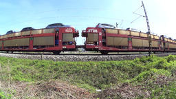 Two cargo trains passing by Archivo