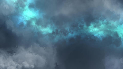 Blue Lightnings Behind Clouds Animation Motion Graphic Background Animation