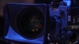 The lens of the camera in Studio (close-up) Footage