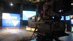 An empty television Studio before the broadcast Footage