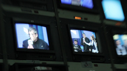 Monitors broadcast during the broadcast Footage