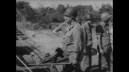WWII Italy: Wounded Troops Get Medical Attention at Field Hospital Filmmaterial