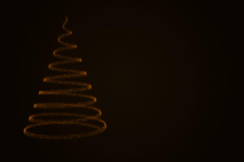Glowing christmas tree from particles Photo