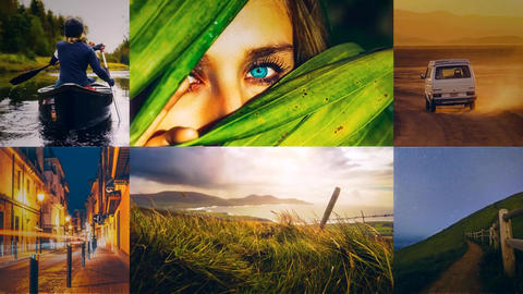 Flipping Multi Photo After Effects Template