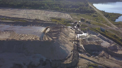 Aerial view on sand production Image