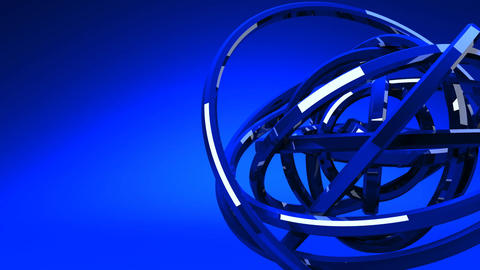 Loop Able Blue Circle Abstract On Blue Text Space Animation