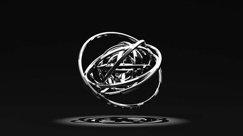 Spotlighted Silver Circle Abstract On Black Background Videos animados