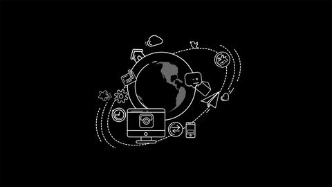 Global Digital World Infographic Animation