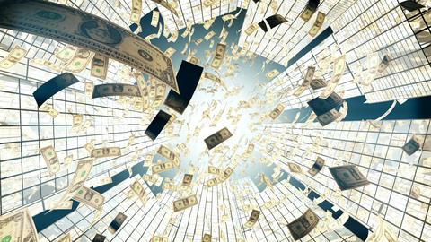 Rain of One hundred dollar bills Animation