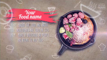 Restaurants Recipe Display After Effects Template