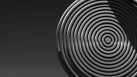 Spotlighted White Circle Abstract On Black Text Space Animation