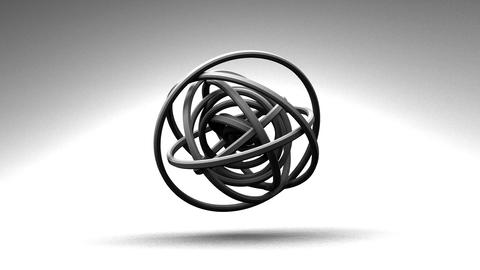 Loop Able White Circle Abstract On White Background Stock Video Footage