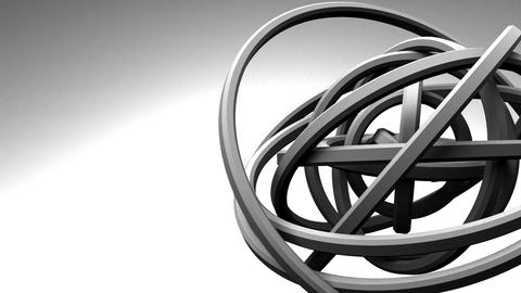 Loop Able White Circle Abstract On White Text Space Animation