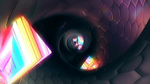 Abstract Fantasy Tunnel. Loopable Animation