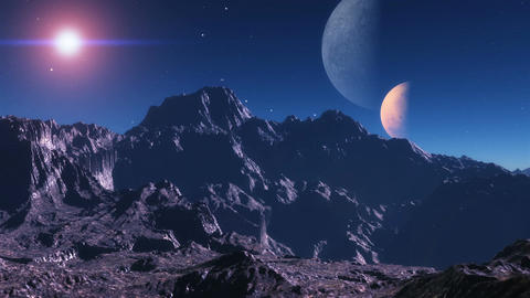 Alien planet sunset. A sunset in an alien planet Animation