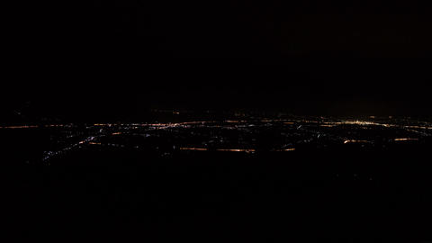 Lights city night from top on mountain time lapse Filmmaterial