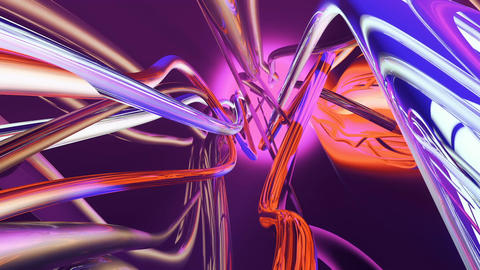 Abstract flowing colorful lines. Loopable Animation