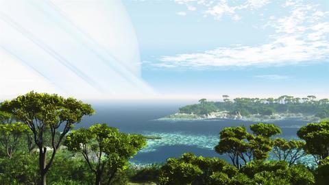 Ocean dream landscape space animation Animation