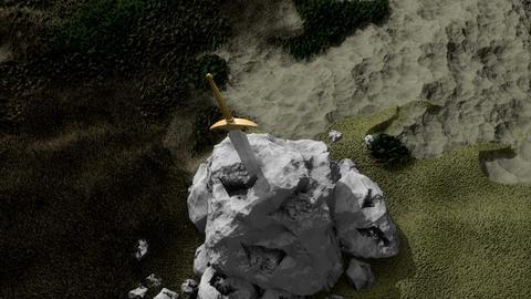 Artist rendering Stone sword Animation