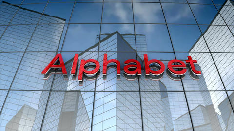 Editorial, Alphabet logo on glass building Animation