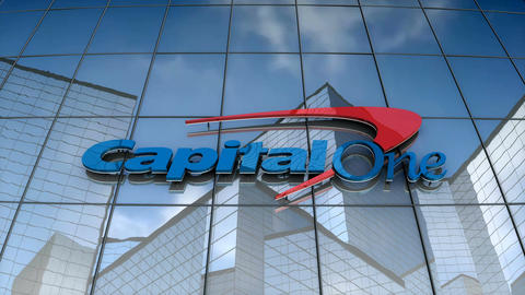 Editorial, Capital One logo on glass building Animation