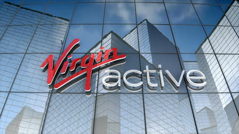 Editorial, Virgin Active logo on glass building Animation