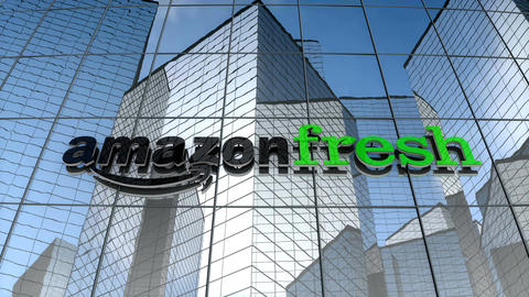 Editorial, Amazon Fresh building Stock Video Footage