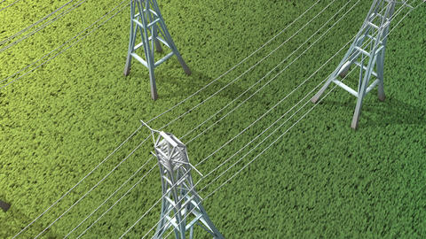 Electric power grid Animation