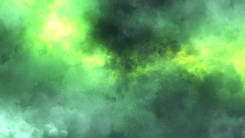 Green Lightnings, Rain & Clouds Animation Motion Graphic Background Animation