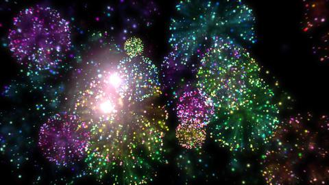 Fast fireworks Animation