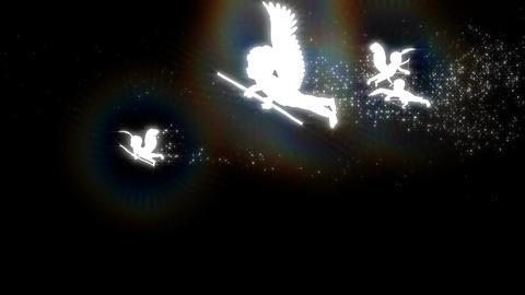 天使の群れ CG動画