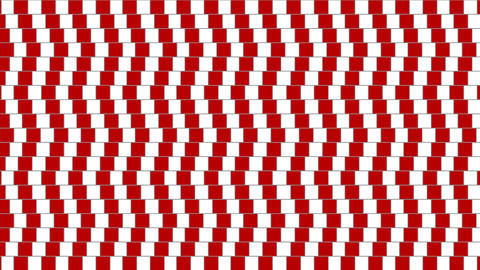 Abstract optical illusion twisted geometric shape Animation
