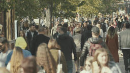 Crowd. Crowded street. Slow motion Footage