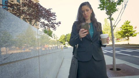 Attractive professional millennial businesswoman on mobile phone technology Footage