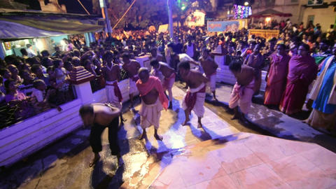 Hindu devotees dancing for Charhak festival, for welcoming Bengali new year 1424 Image